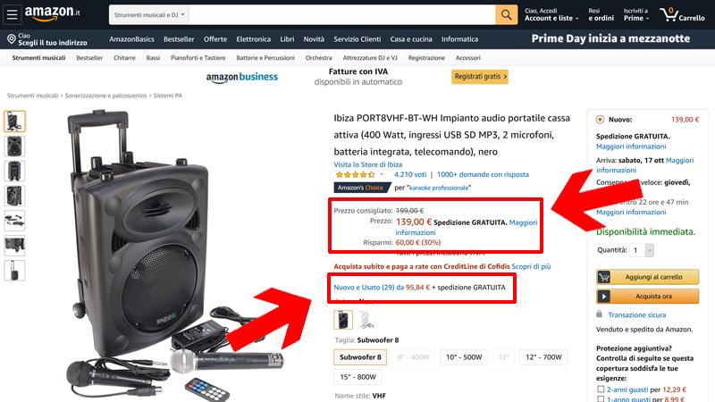 Amazon prezzi nuovo ed usato